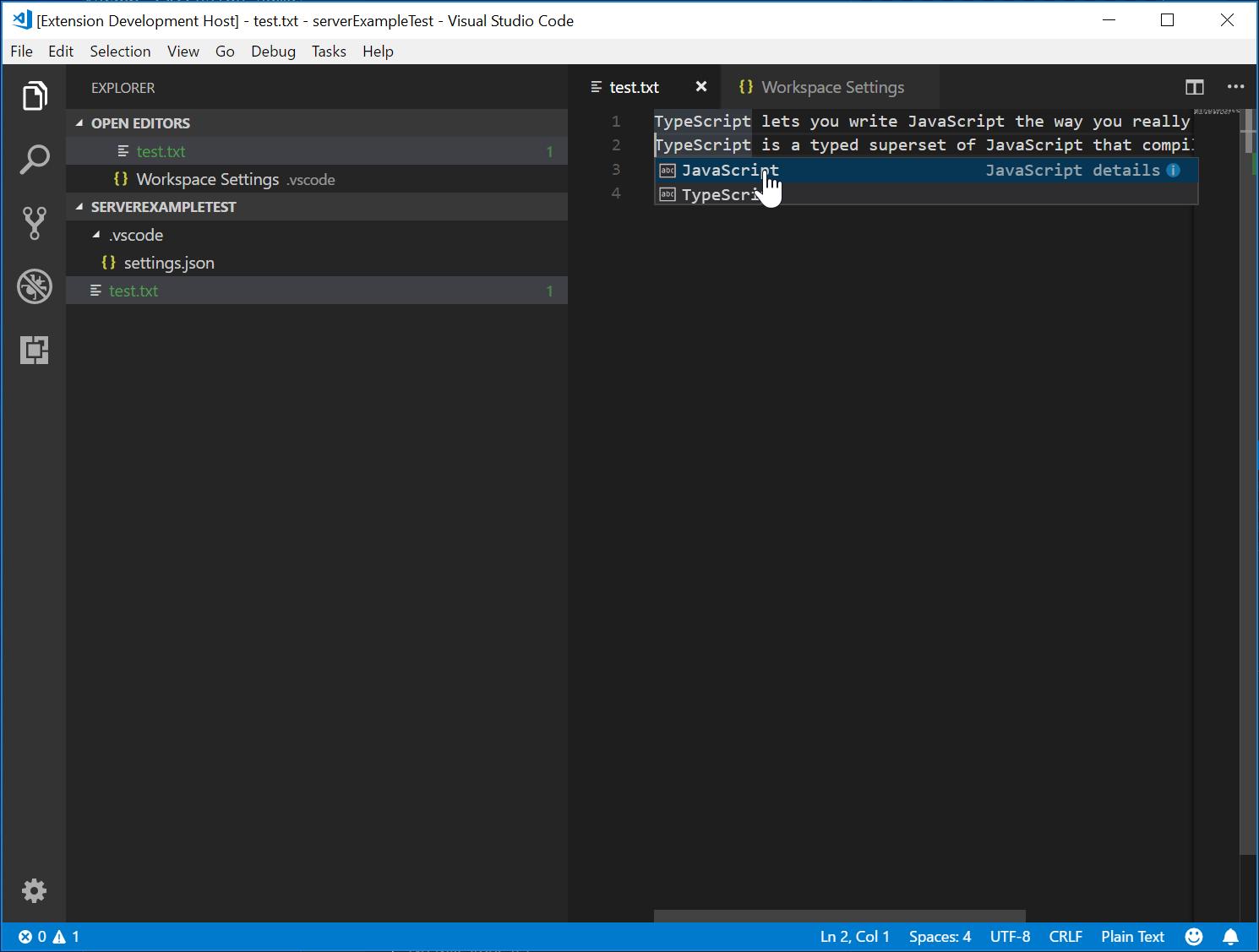 Language Server Extension Guide | Visual Studio Code Extension API