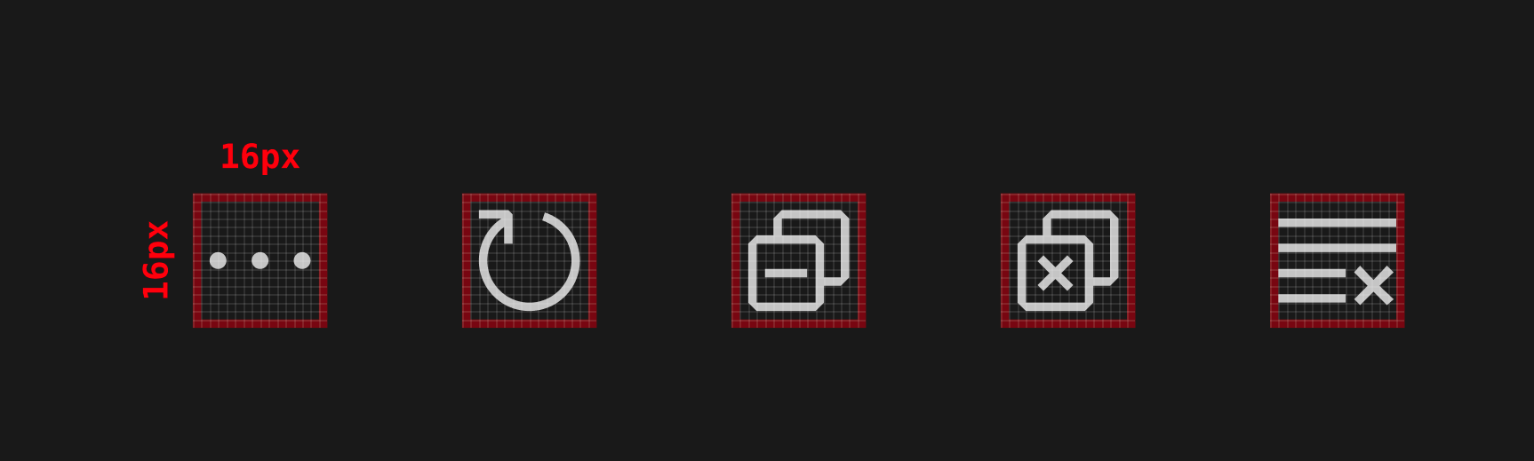 command icons