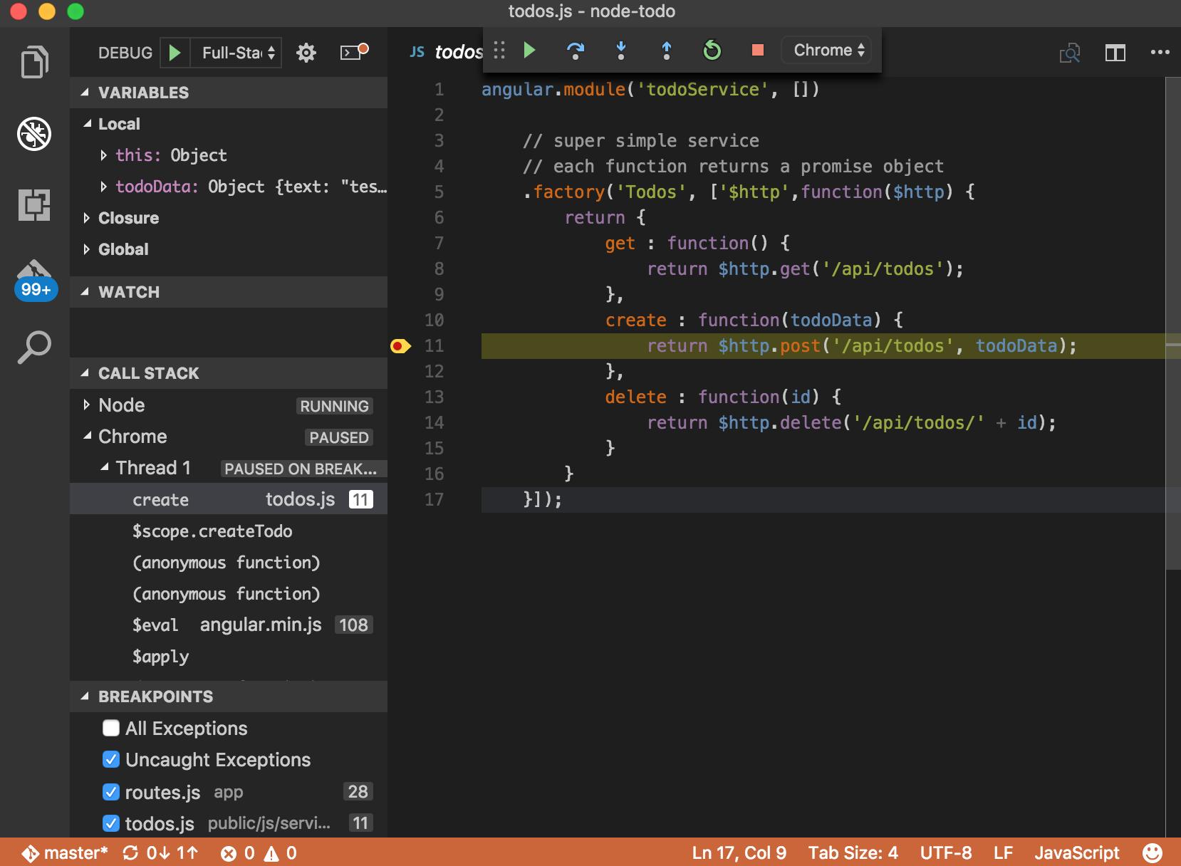 Node js Development with Visual Studio Code and Azure