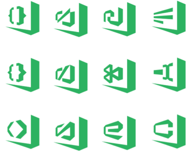 Early VS Code icon designs