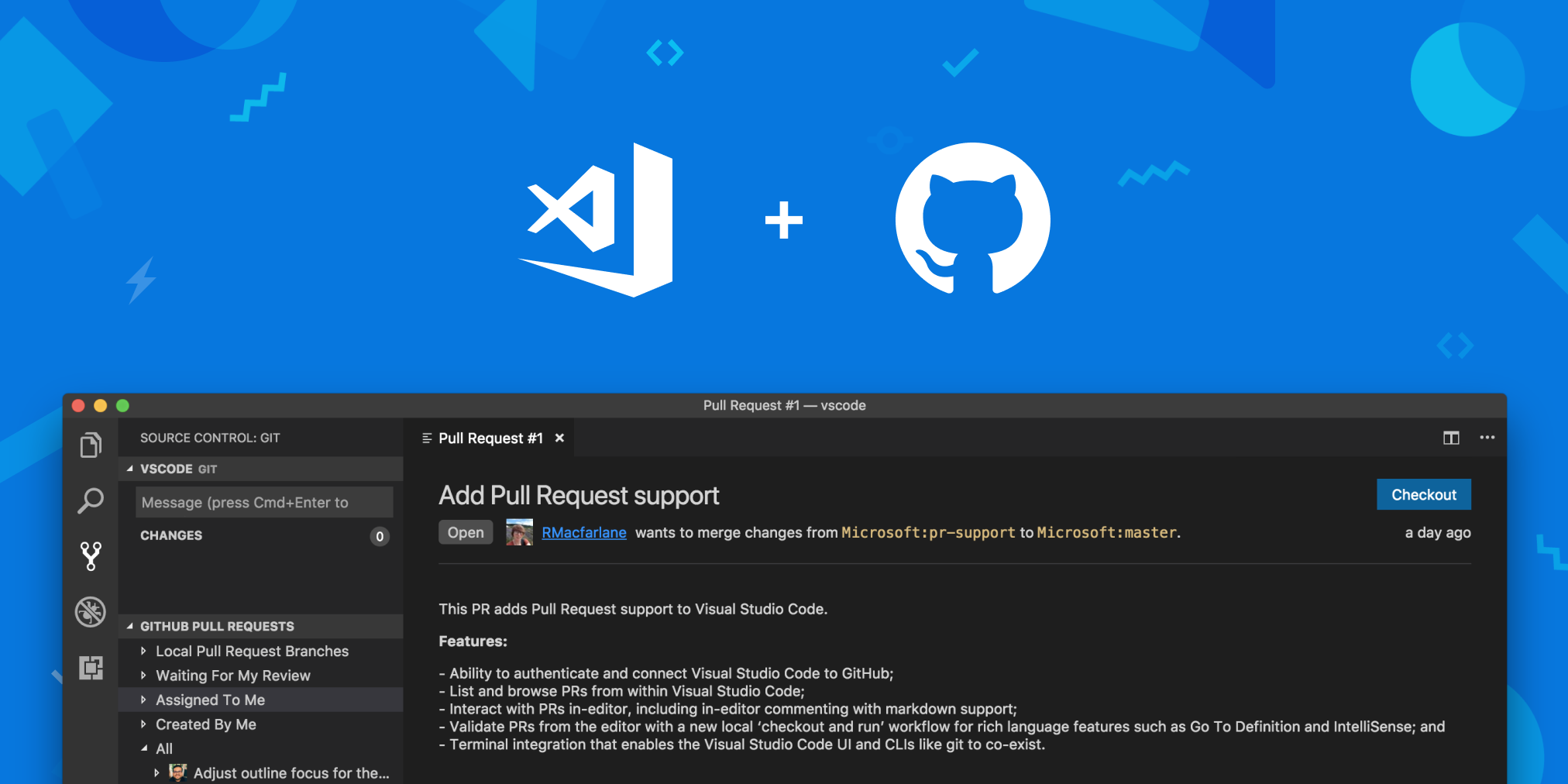 Introducing GitHub Pull Requests for Visual Studio Code