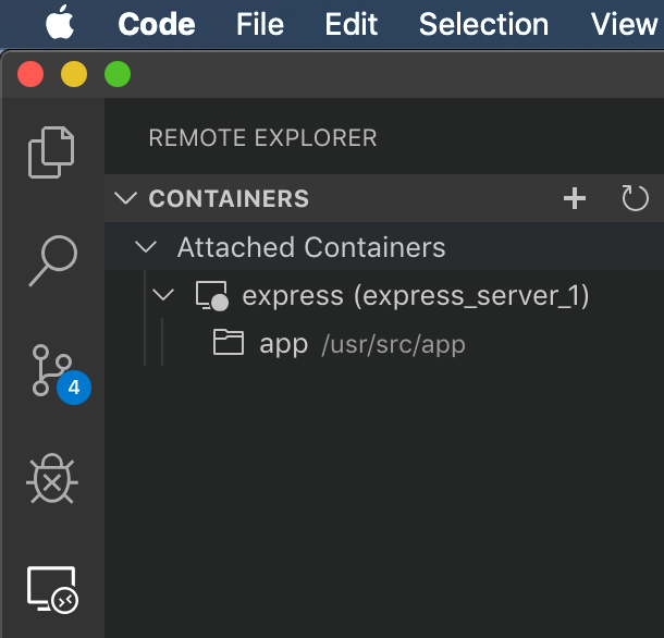 Attached Containers in the Remote Explorer