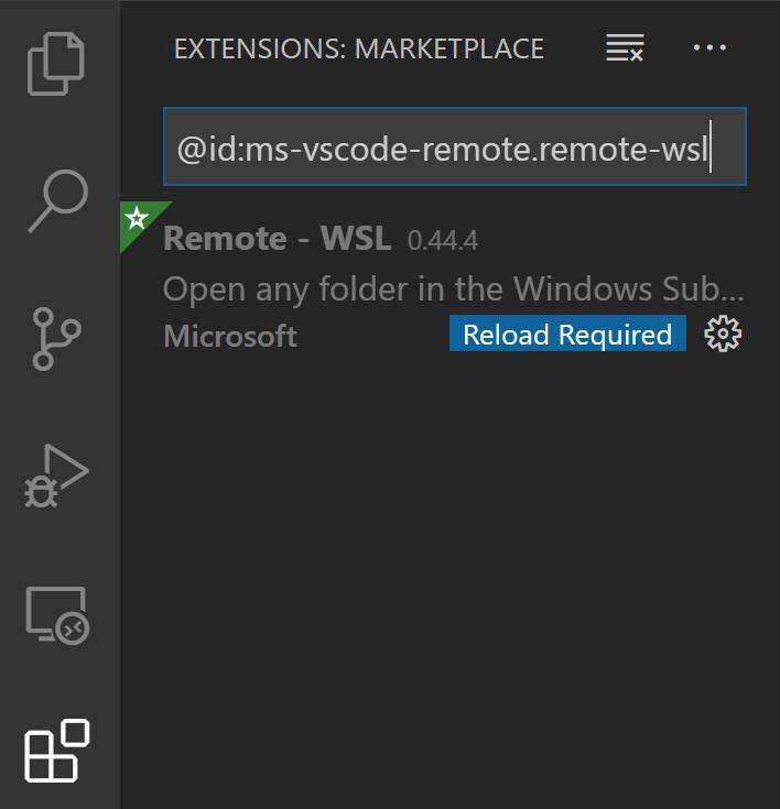 Reload VS Code after installing extension