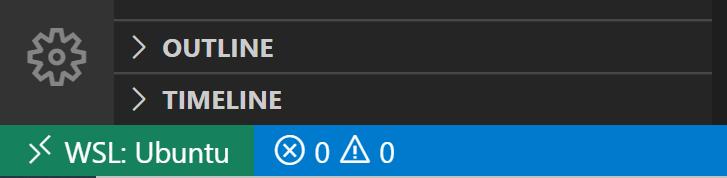 WSL: Ubuntu bottom left indicator
