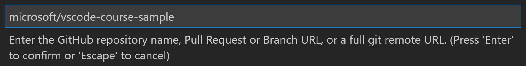 Paste GitHub URL in Command Palette