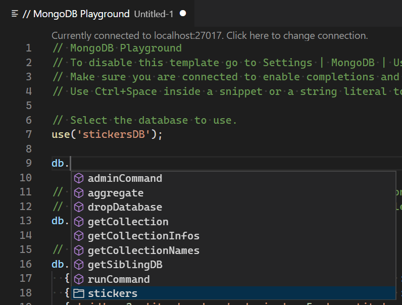 Working with MongoDB in Visual Studio Code