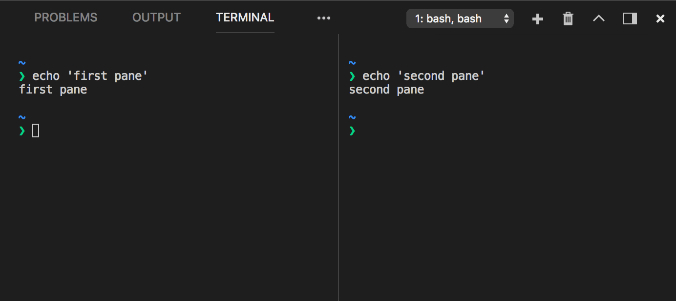 Integrated Terminal in Visual Studio Code