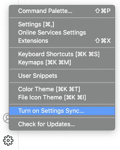 Turn on Sync command