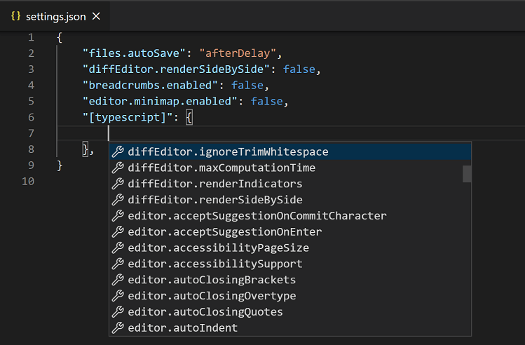 Visual Studio Code User and Workspace Settings
