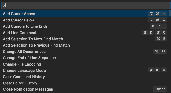 Visual Studio Code User Interface