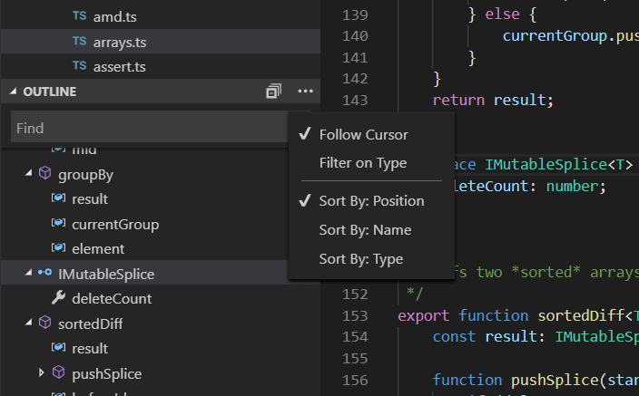 Visual Studio Code User Interface