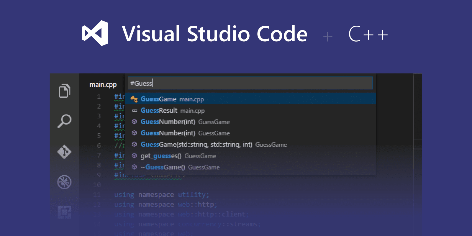 C++ programming with Visual Studio Code