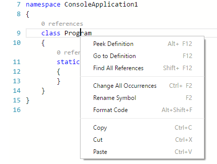 C# programming with Visual Studio Code