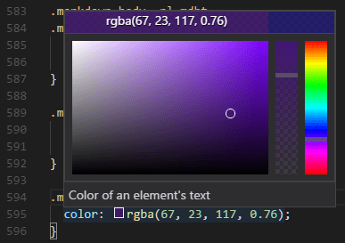 Color picker in CSS