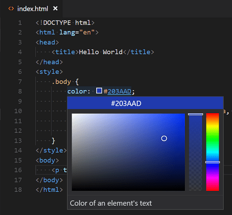 HTML Programming with Visual Studio Code