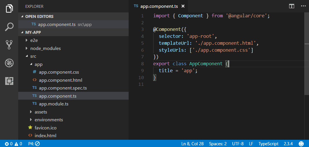 Angular JavaScript Tutorial in Visual Studio Code