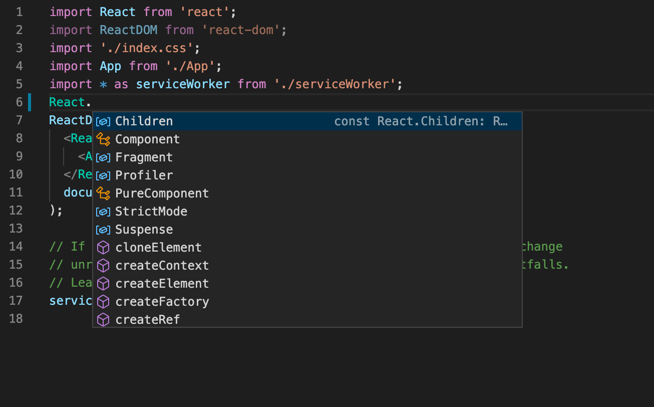 React JavaScript Tutorial in Visual Studio Code