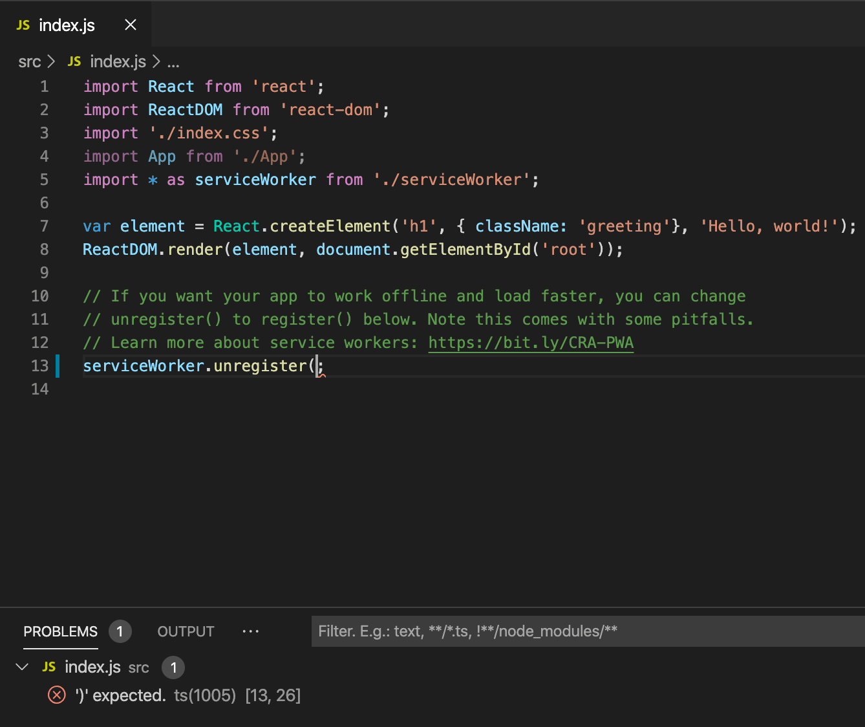 visual studio code react native