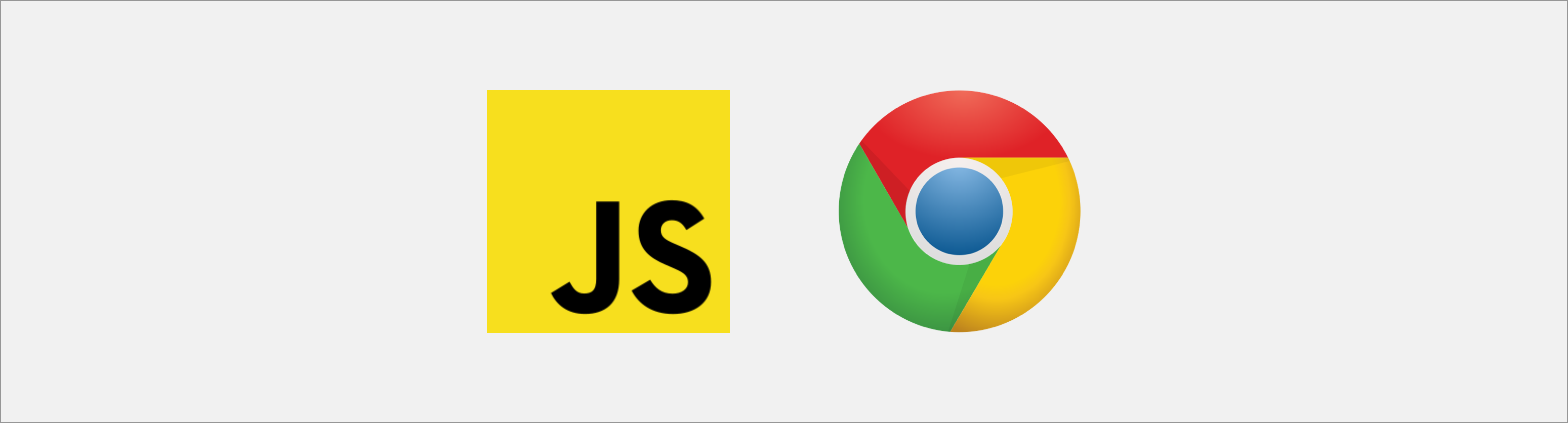 JavaScript and Chrome logo