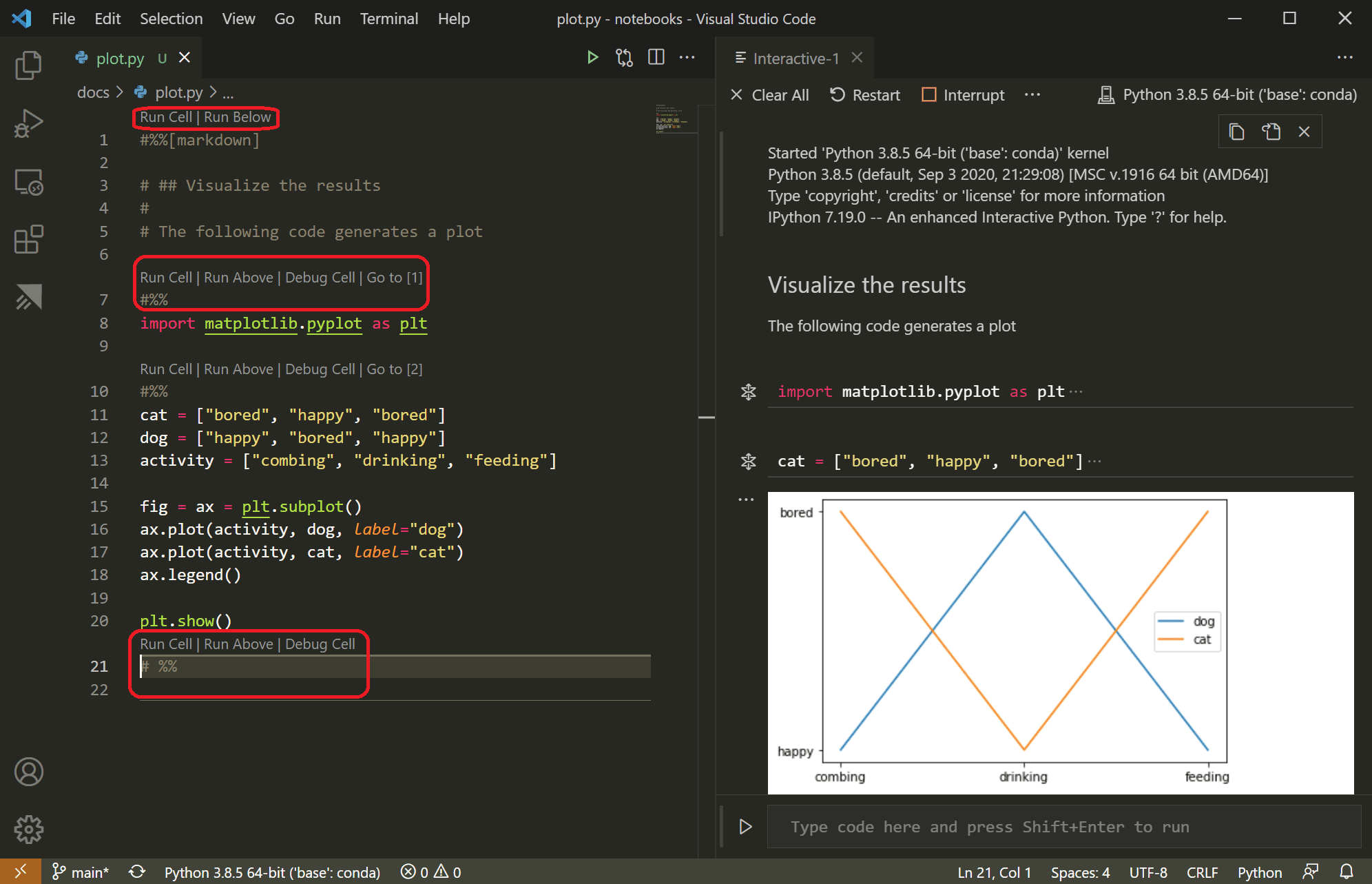 Working with Jupyter Notebooks in Visual Studio Code