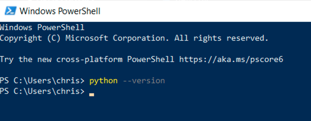 no Python on Windows