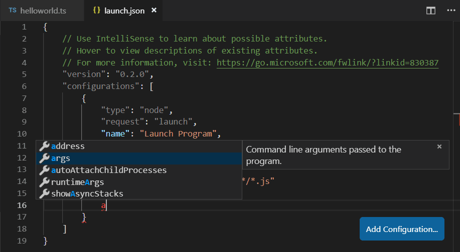 TypeScript debugging with Visual Studio Code