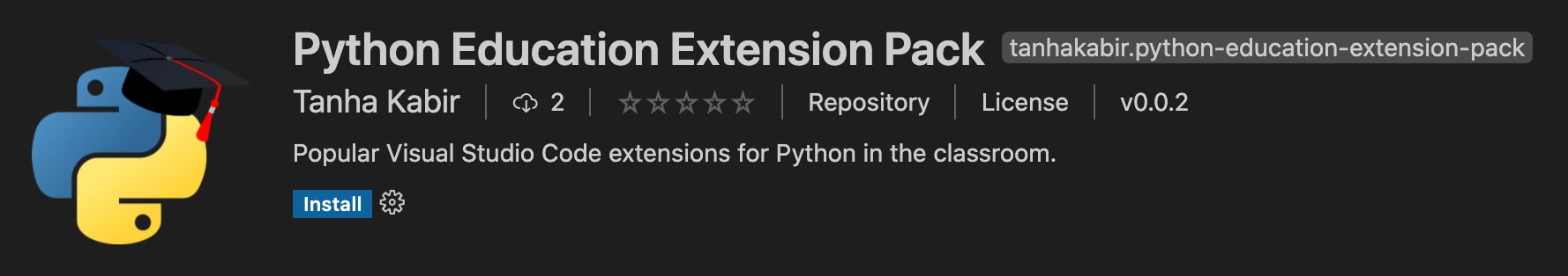 Python Education Extension Pack