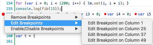 Editable Column Breakpoints