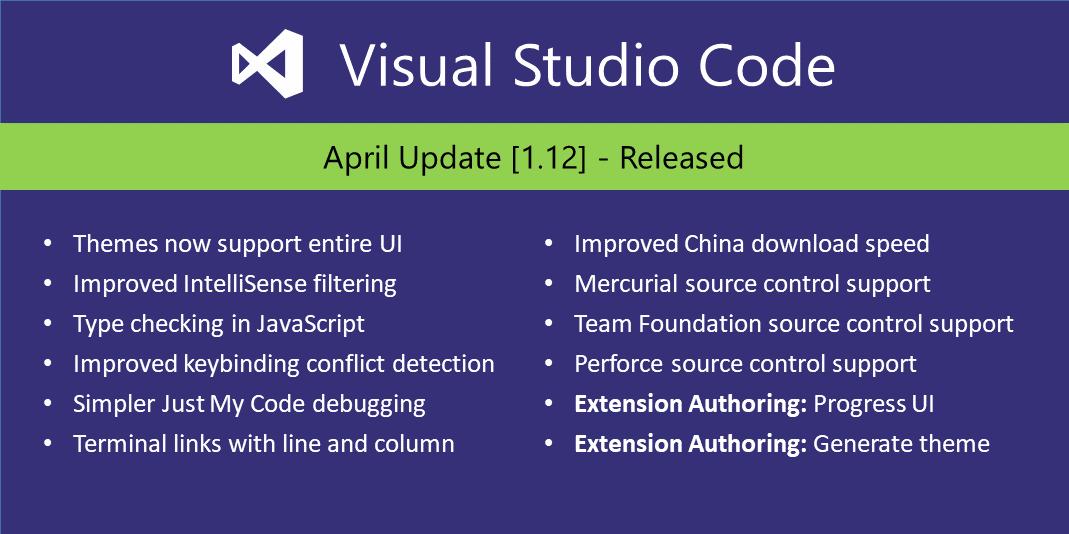 Visual Studio Code April 2017