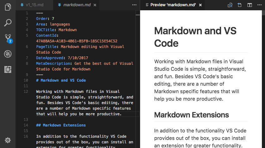 Visual Studio Code July 2017