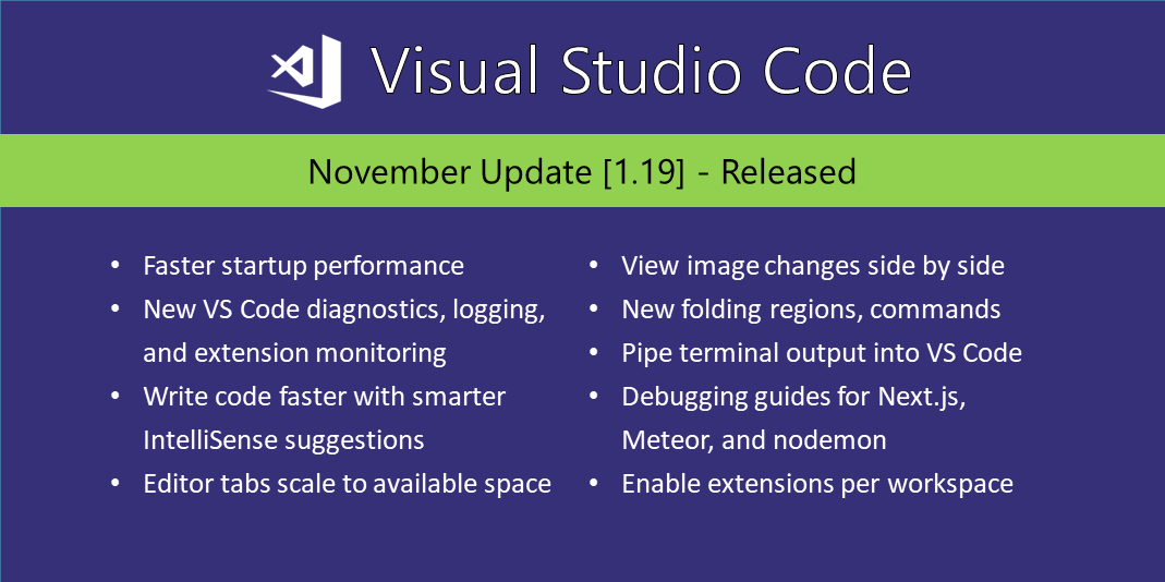 Visual Studio Code November 2017