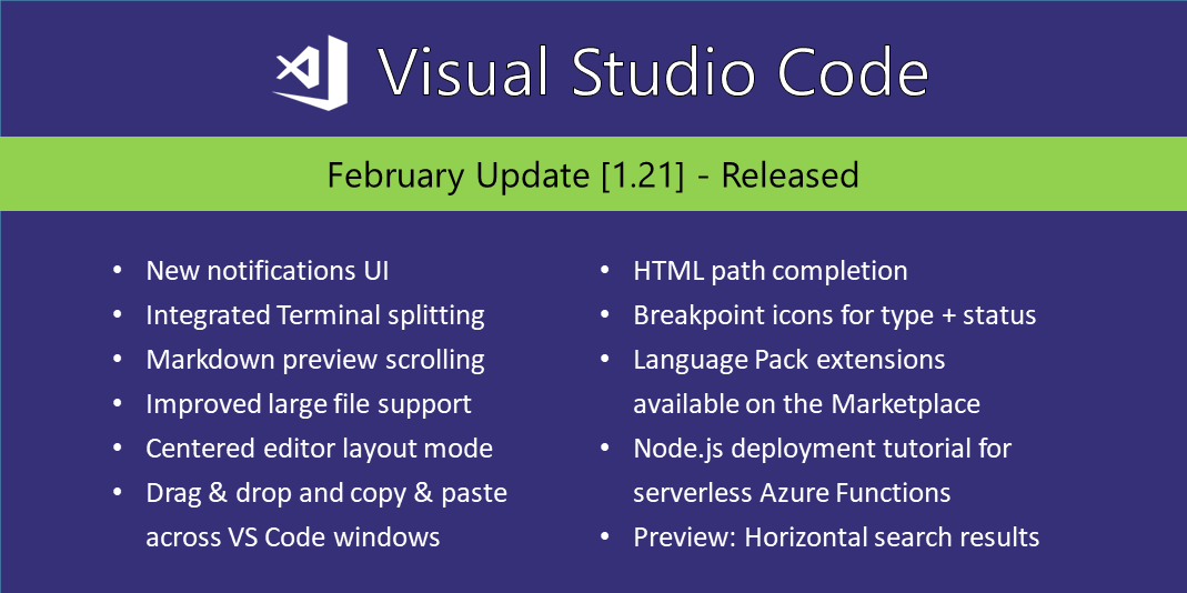 Visual Studio Code February 2018