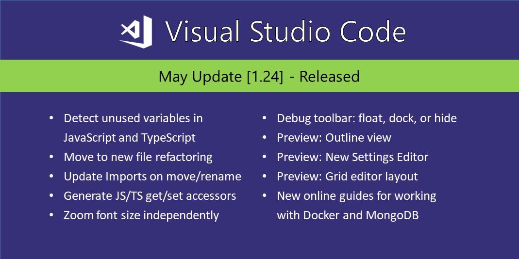 Visual Studio Code May 2018