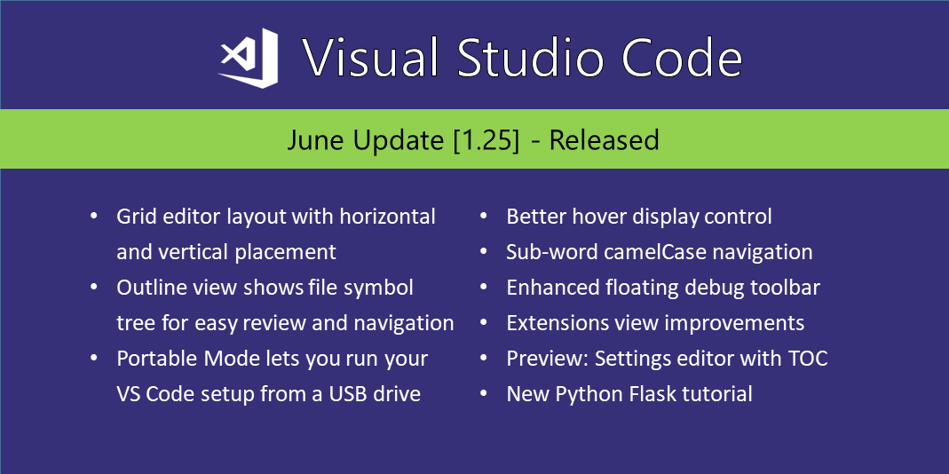 Visual Studio Code June 2018