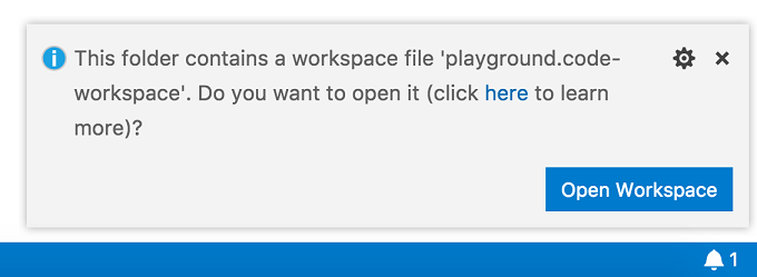 Workspace file prompt