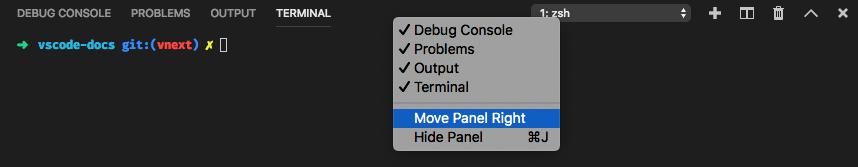Move panel