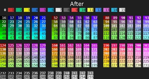 256 colors with ConPTY do work