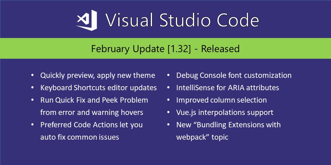 Visual Studio Code February 2019