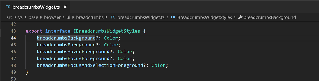 breadcrumb navigation on by default