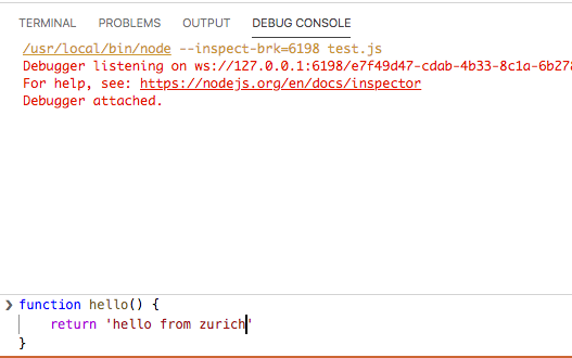 Debug Console input with syntax coloring