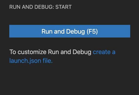 Simplified initial Debug view