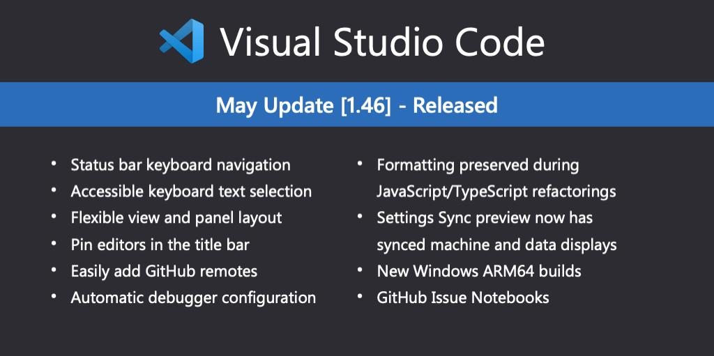 Visual Studio Code May 2020