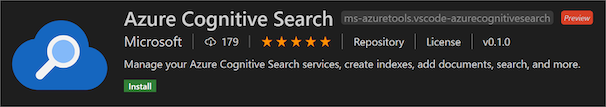 Azure Cognitive Search extension