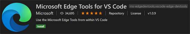 Microsoft Edge Tools for VS Code extension