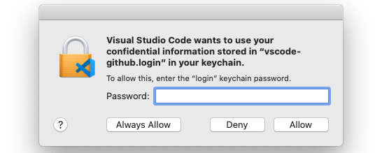 Keychain Access prompt