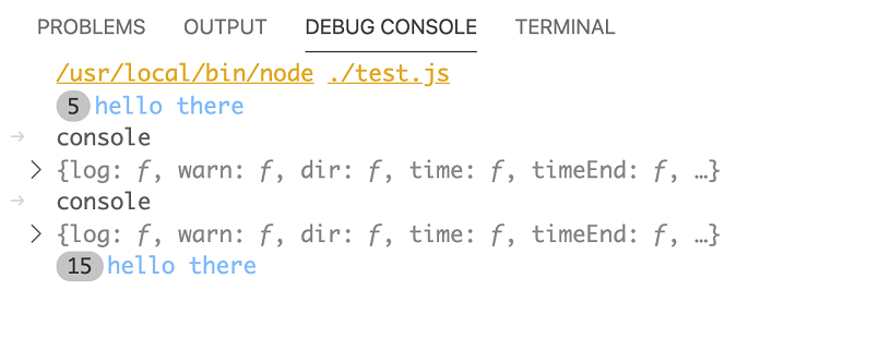 Debug Console collapsing identical lines